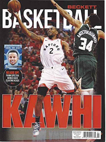 NEWEST GUIDE: Beckett Basketball Card Monthly Price Guide (June 11, 2019 release/K. Leonard cover)