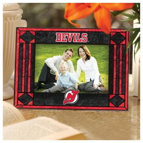 Nhl Frame Horizontal Picture (NHL New Jersey Devils Art-Glass Horizontal Picture Frame)