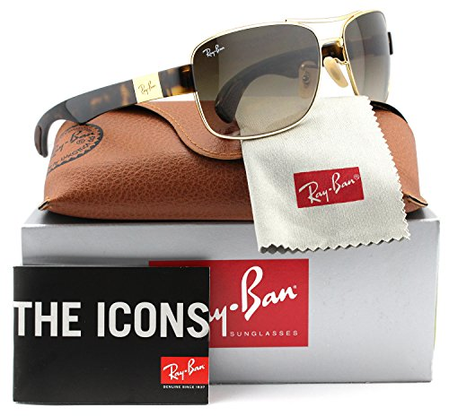 Ray-Ban RB3522 Sunglasses Gold Havana w/Brown Gradient (001/13) RB 3522 001/13 61mm - Store Bans Ray