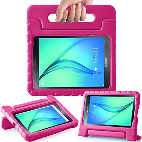 AVAWO Kids Case for Samsung Galaxy Tab A 8.0 2015 - AVAWO Light Weight Shock Proof Convertible Handle Stand Kids Friendly for Samsung Tab A 8-Inch SM-T350 Tablet, Rose