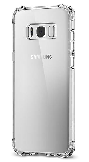 spigen Funda Galaxy S8, Carcasa [Crystal Shell] Panel Trasero Transparente y Esquinas reforzadas en Parachoques TPU para Galaxy S8 2017 - Transparente