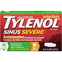 Tylenol Sinus Congestion Plus Pain Severe Daytime Non-Drowsy, 24 Count by Tylenol Cold & Flu