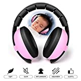 [2018 Upgraded] Baby Ear Protection Noise Cancelling Headphones-Teepao NRR 30dB Adjustable&Soft&Safety Baby Ear Muff for 6 Months to 6 Years-Pink