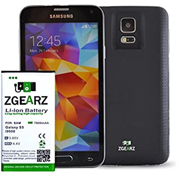 amazoncom samsung galaxy s5 extended battery with 7800