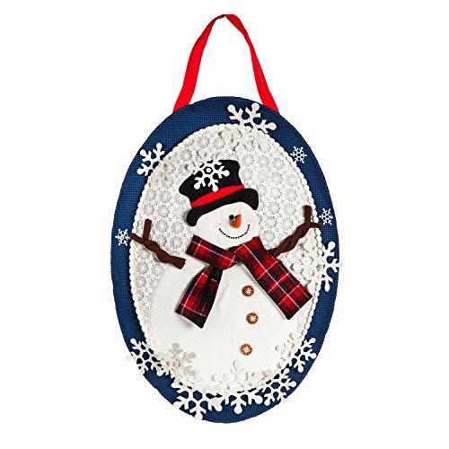 Evergreen Flag Snowflake Snowman Outdoor Safe Door Hanger -