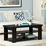 Ameriwood Home Jensen Coffee Table, Multiple Colors (Coffee Table, Black Oak)