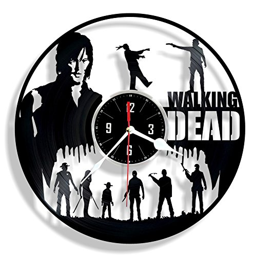 WALKING DEAD vinyl wall clock - great gift for birthday, anniversary or any other occasion - beautiful home decor - unique design that made out of retro vinyl record
