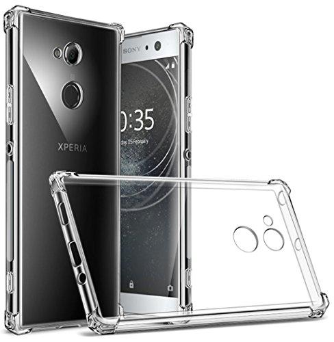 Sony Xperia XA2 Ultra Case, Suensan TPU Shock Absorption Technology Raised Bezels Protective Case Cover for Sony Xperia XA2 Ultra smartphone (TPU Clear)