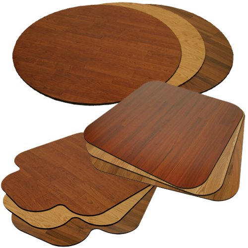 Laminate Chair Mat -Walnut-36x44 with Single Lip