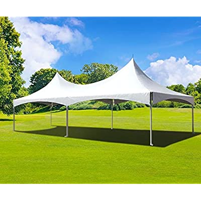 """20' Foot x 30' Foot Twin Tube West Coast Frame Style Party Tent - White Canopy - 2.5"""" Inch Aluminum Frame - Canopies for Banquets, Weddings, Graduations, and Events: Sports & Outdoors"""