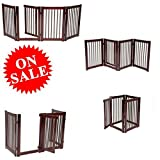 Tall Wide Pet Gate Portable Expandable from Large to Narrow Baby and Pet Door Wooden Baby Gate with Pet Door Barrier Fence Gate eBookm by Easy&FunDeals