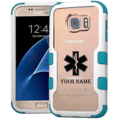 Galaxy S7 Case Medical Symbol Custom Name, Extra Shock-Absorb Clear back panel + Engineered TPU bumper 3 layer Sales