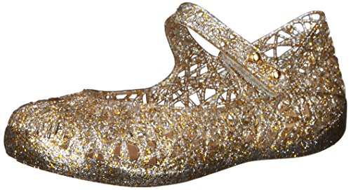 - Mini Melissa Girls' Zig ZAG VI Mary Jane Flat, Mix Gold Glitter, 9 Regular US Toddler