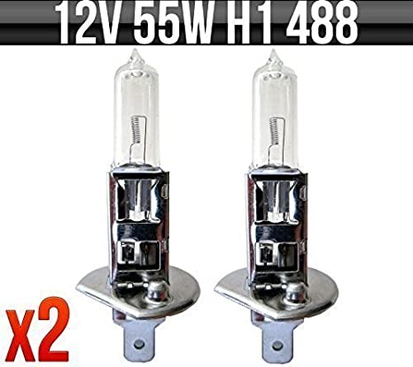 Pack Of 2 IgnitionLine H1 448 12V 55W Halogen Headlamp Headlight Fog Dip Beam Car Bulbs 1 Pin P14.5s