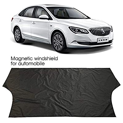 Merssyria Waterproof Windshield Cover, Magnetic Sun Shade Snow Cover Fits Most Car,SUV,Truck, Van Side Mirror Cover