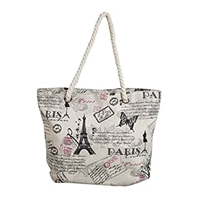 premium large paris eiffel butterfly print canvas tote shoulder bag handbag shoes. Black Bedroom Furniture Sets. Home Design Ideas
