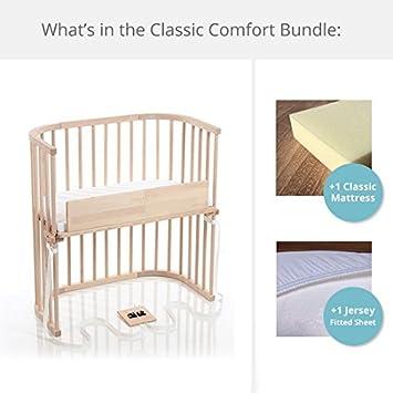 Charming Babybay Bedside Sleeper Classic Comfort Bundle In Natural (Unfinished)
