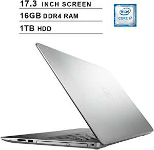2020 Dell Inspiron 3793 17.3 Inch FHD 1080P Laptop (Intel Core i7-1065G7 up to 3.9GHz, NVIDIA GeForce MX230 2GB, 16GB DDR4 RAM, 1TB HDD, DVD, HDMI, WiFi, Bluetooth, Windows 10)
