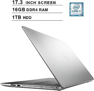2020 Dell Inspiron 3793 17.3 Inch FHD 1080P Laptop (Intel Core i7-1065G7 up to 3.9GHz, NVIDIA GeForce MX230 2GB, 16GB DDR4 RAM, 1TB HDD, DVD, HDMI, WiFi, Bluetooth, Windows 10)