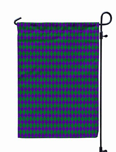 Shorping Welcome Garden Flag, 12x18Inch Carnival Festival Masquerade Mardi Gras Pattern Poster Album Banner Greeting Card Invitation Parade for Holiday and Seasonal Double-Sided Printing Yards Flags]()