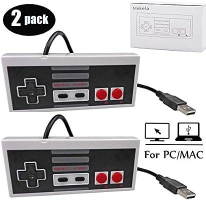 Mekela 2 Packs 5.8 feet Classic USB wired Controller for NES Gaming, Retro Game Pad Joystick Raspberry Pi Gamepad for Windows PC Mac Linux RetroPie ...