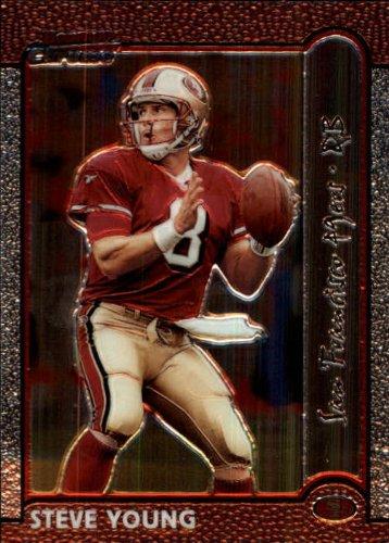 1999 Bowman Chrome Football Card #130 Steve Young (1999 Topps Chrome Football)