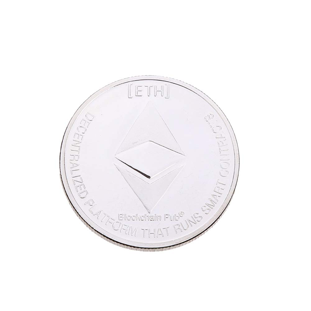 Connoworld Commemorative Art Alloy Round Collectible Coin Gift for Ethereum Enthusiast - Silver