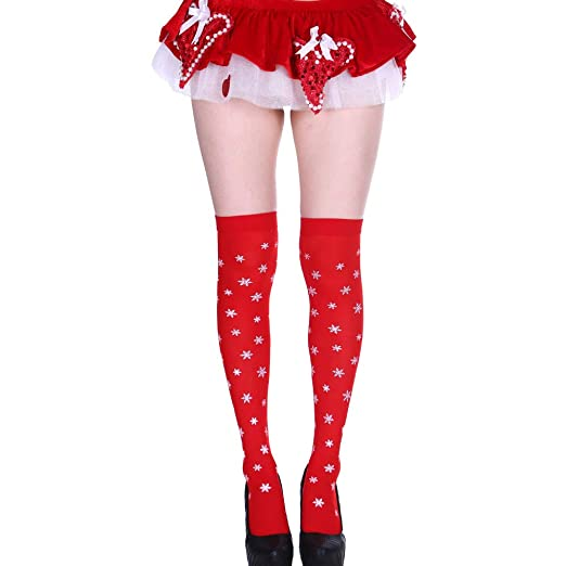 c35f7946dd1 Image Unavailable. Image not available for. Color  iLXHD Costume Hosiery  Women Girls Stripe Long Tube Knee Funny Socks ...