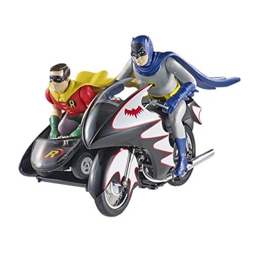 Hot Wheels Elite Batman Classic TV Series BATCYCLE with Figures Die-cast Vehicle (1:12 Scale)