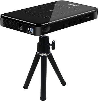 Opinión sobre Mini proyector de bolsillo, proyector 3D inteligente DLP Pico compatible con entrada HD/decodificación 4K HD con HDMI USB/pantalla táctil/RC, para cine en casa, fiesta familiar (Android 6.0)(YO)