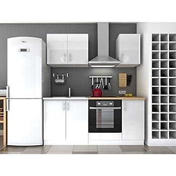 LOFT Cuisine complete L 180 cm Blanc Laqué: Amazon.fr: Cuisine & Maison