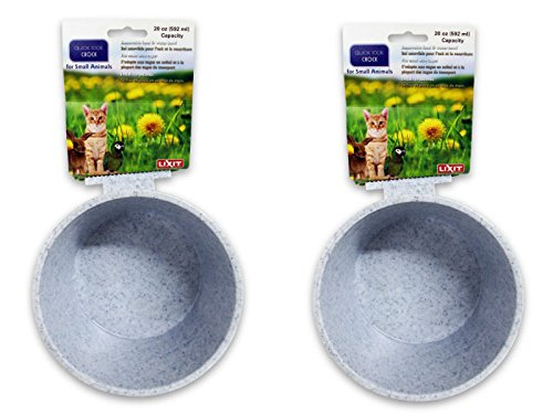 Lixit Corporation BLX0758 Crock for Small Animals, 20-Ounce, Granite(2Pack) by Lixit