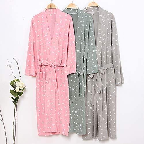 maglia Kimono lavorato cotone giapponese in donna L Pigiama da Abito Taglie B a xWnUHt