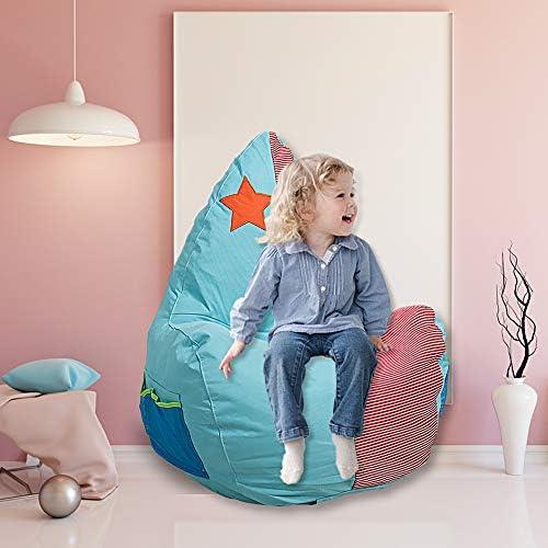 Dporticus 3 Feet Kids Bean Bag Chair Cartoon Lazy Sofa