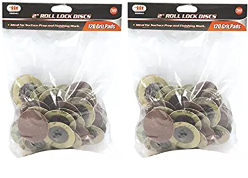 IIT 82041 120 Grit Roll Lock Style Sanding Disc, 50-Piece (2 Pack)
