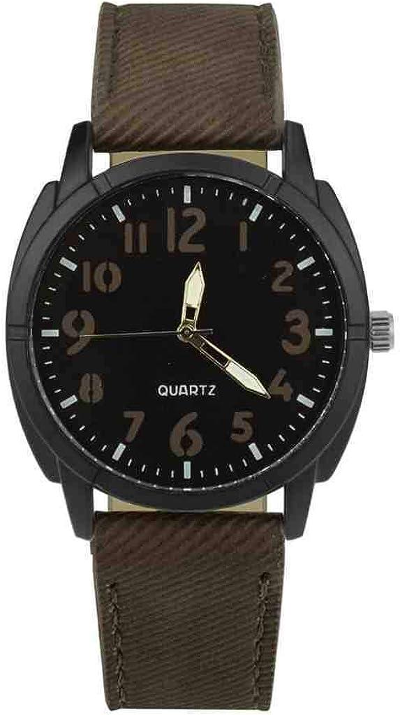 DECTN - Reloj de pulsera para hombre con diseño retro de piel de aleación analógica de cuarzo, deportivo, informal, relojes de pulsera, relojes Mannen, reloj militar, marrón