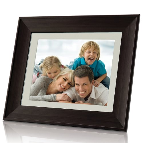 Coby DP1052 10.4-Inch Digital Photo Frame with MP3 Player (Wooden Frame)
