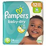 pampers baby extra protection - Pampers Baby-Dry Disposable Diapers Size 5, 24 Count, JUMBO