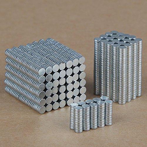 100 PCS 3 mm x 1 mm Rare Earth néodyme N35 Super aimants