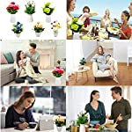 UIKKOT-Artificial-Fake-Flowers-Silk-Bouquet-Roses-in-Plastic-Vase-Sturdy-Bottom-Arrangements-for-Indoor-Outdoor-Decorations-Wedding-Party-Home-Videos-Table-Gift-or-MV-Pink-and-Yellow