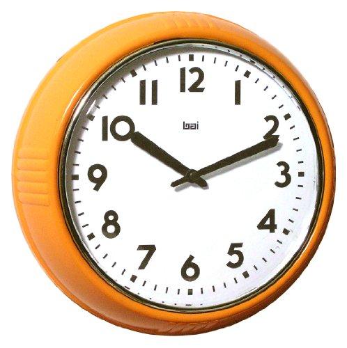 Amazon Com Bai School Wall Clock Orange Home Amp Kitchen