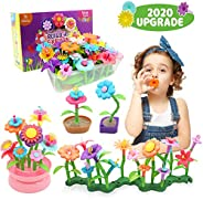Byserten Gifts for 3-6 Year Old Girls Flower Garden Building Set