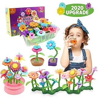 Byserten Flower Garden Building Toys for Girls STEM Flower Stacking Gardening Preschool Craft Kits Toys for 3 4 5 6 Year Old Toddler Birthday Gifts for Kids Childrens(150pcs)
