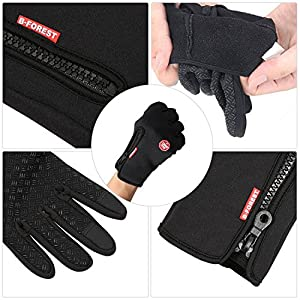 Cycling Gloves, Touchscreen Waterproof Outdoor Sport Winter Bike Gloves, Ajustable Size Full Finger For Running Driving Skiing Skating Climbing Be the first to review this item