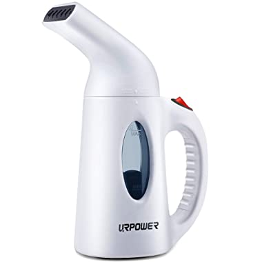 URPOWER Garment Steamer 130ml Portable Handheld Fabric Steamer Fast Heat-up Powerful Garment Clothes Steamer with High Capacity for Home and Travel, Travel Pouch Included- Not for Abroad