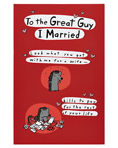 American Greetings Crazy Life Birthday Greeting Greeting Card for Husband with Foil