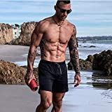 Men's 2 in 1 Running Shorts with Pockets Quick