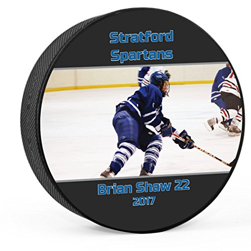 Pucks Personalized Hockey (Personalized Photo Hockey Puck | Player & Team Hockey Award and Gift by ChalkTalk SPORTS)