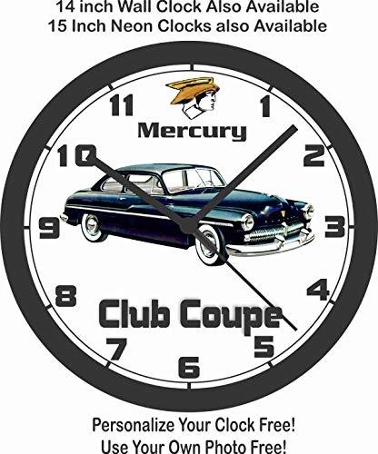 Jim's Classic Clocks 1949 Mercury 2 Door Club Coupe Wall Clock-Free USA ()