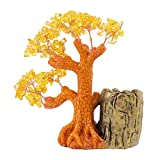 MagiDeal Crystal Money Tree Pen Holder Case Home Office Desktop Decorations Business Gift